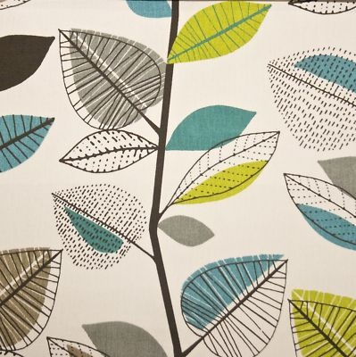 PRESTIGIOUS 'AUTUMN LEAVES' FABRIC Teal p/m on eBay!