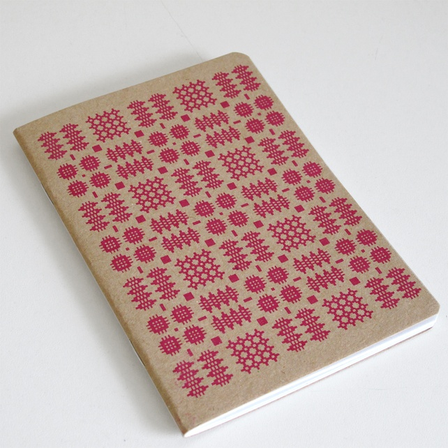Peris and Corr Welsh Blanket Print Notebook