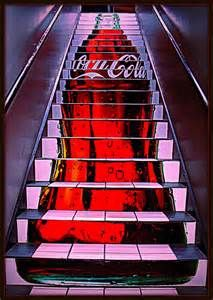Coca Cola stairs