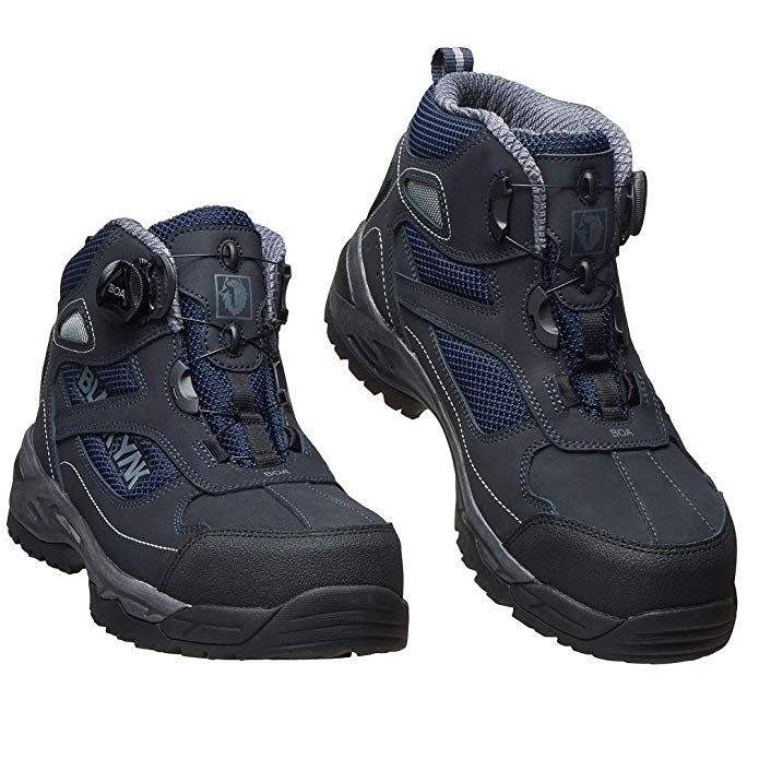 Rock Fall Dolomite S3 SRC Black Leather Waterproof Boa Lace Safety Work Boots