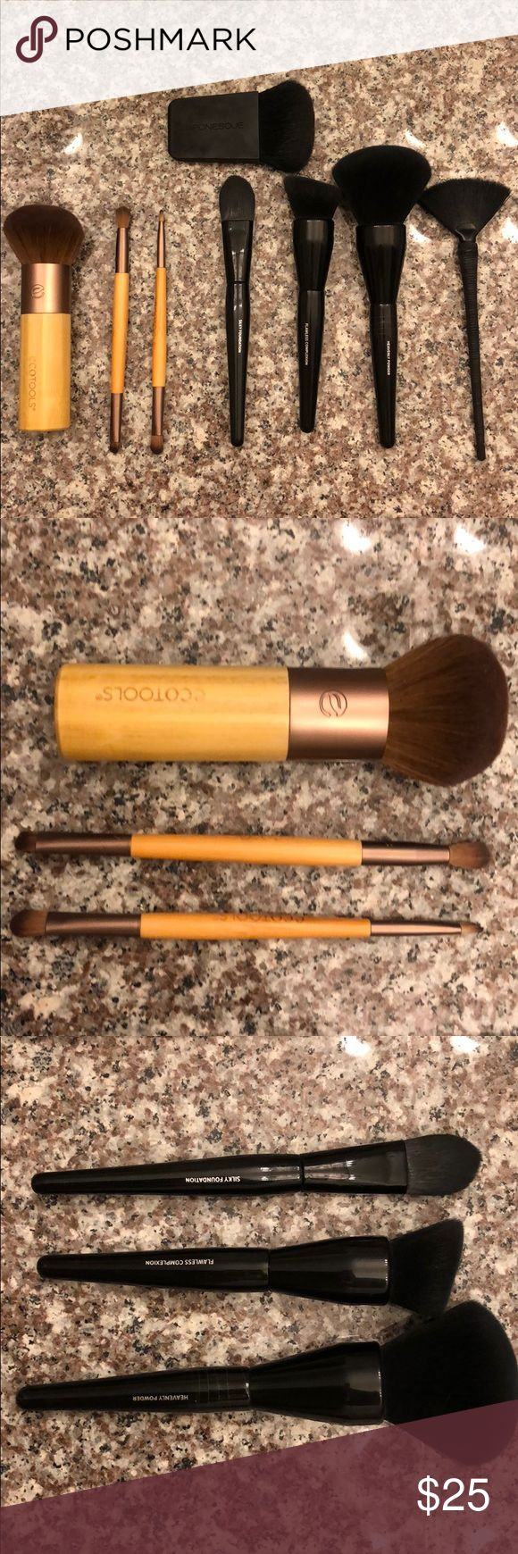 Makeup Brush Lot (8) Most new, some used but sanitized; no brush numbers on brushes three Ecotools brushes, three it for Ulta brushes (super soft), fan brush and contouring brush from Japonesque. I have about four go-to brushes and don't need any extras, your gain! Ulta Makeup Brushes & Tools