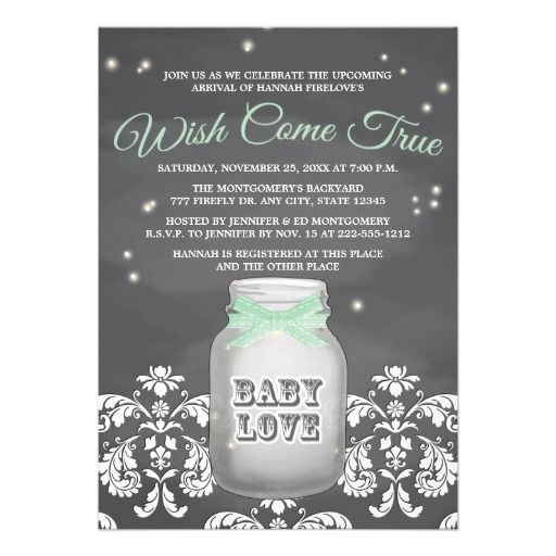 28 best baby shower invitation wording images on pinterest shower chalkboard firefly mason jar neutral baby shower invitation wording already written join us as we stopboris Images