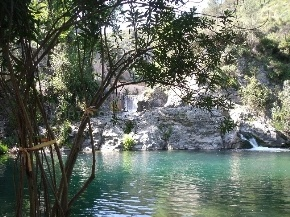 Pou Clar in Ontinyent, a little lake in a natural site.
