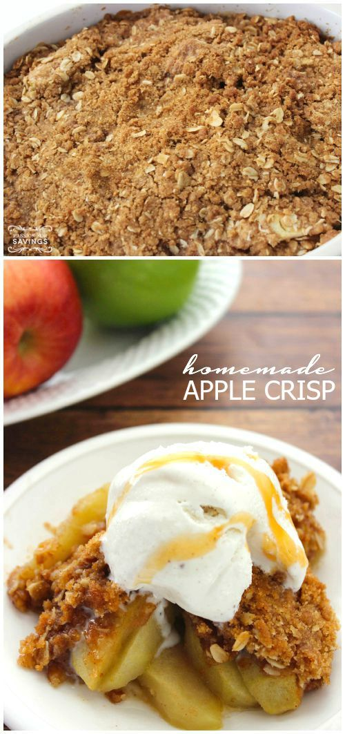 Homemade Apple Crisp Recipe! Easy Fall and Winter Holiday Recipe for Thanksgiving and Christmas!