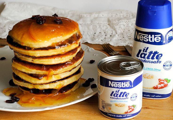 Pancake al latte condensato   condensed milk