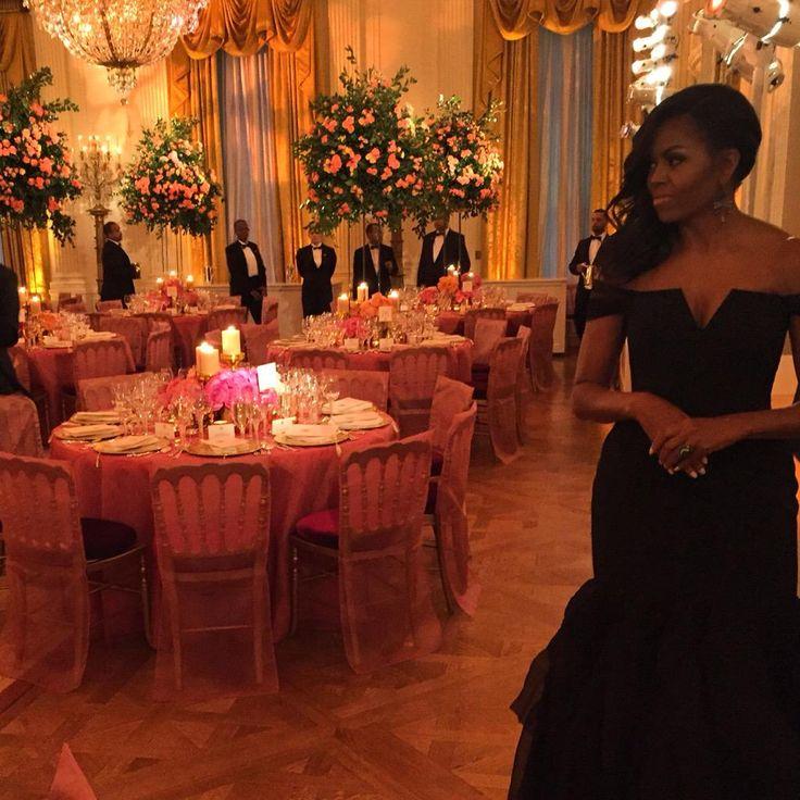 "Joy Reid retweeted pics @POTUS @FLOTUS @BarackObama ""State Dinner Red Carpet"" 2015"