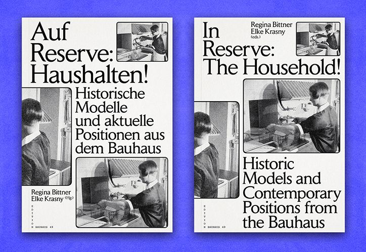 Bureau David Voss creates Bauhaus-inspired book about modern housekeeping.