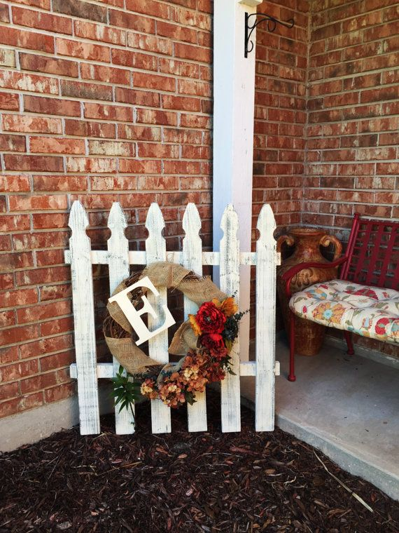 Shabby Chic Picket Fence Decor by FixinVintage on Etsy