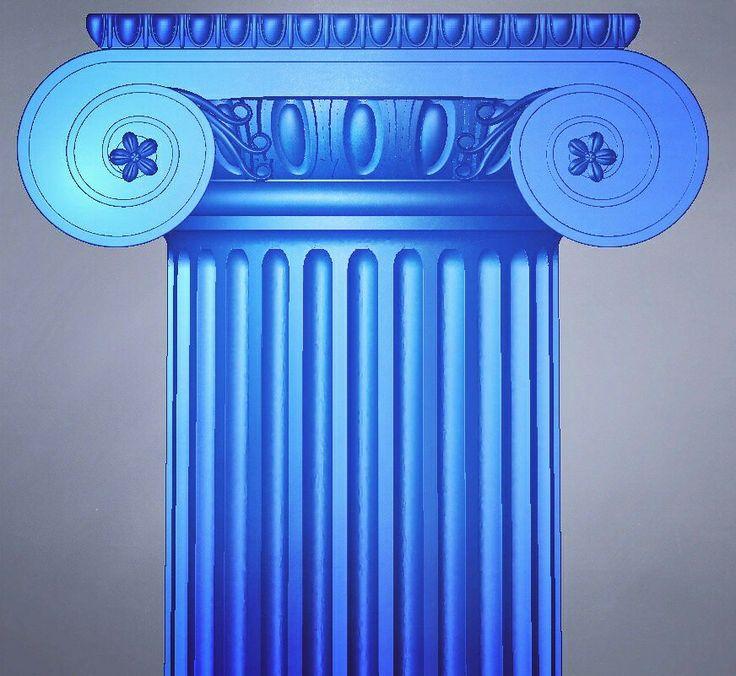 3d model of the custom ionic column.