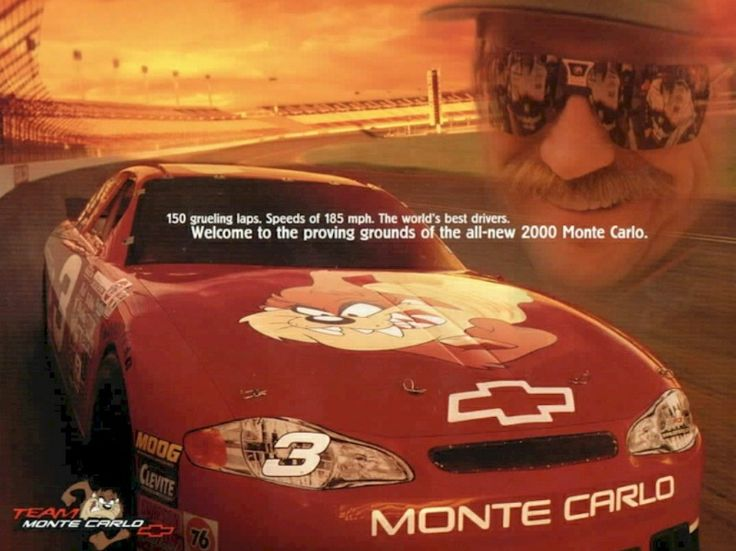 "Chevrolet Team Monte Carlo ""Taz"" advertisement poster ..."