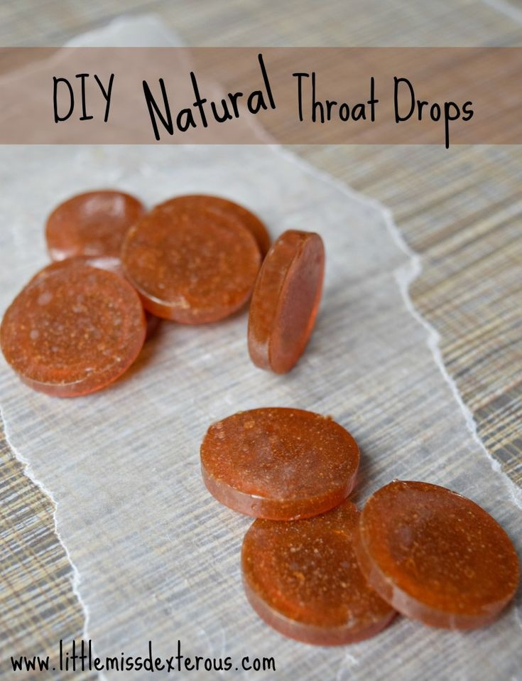 DIY All Natural Throat Drops recipe with honey.  These a some tea will sooth any sore throat.