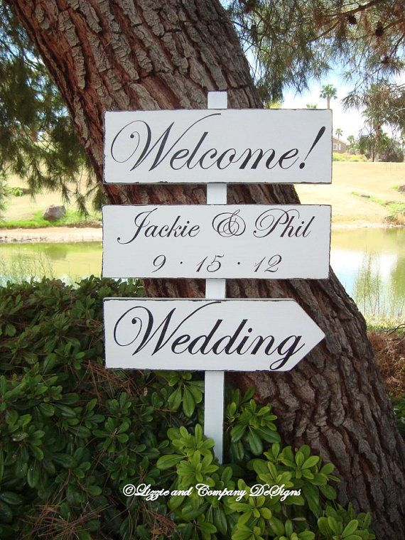 DiReCTioNaL WeDDiNg SiGnS  Classic Style by lizzieandcompany, etsy