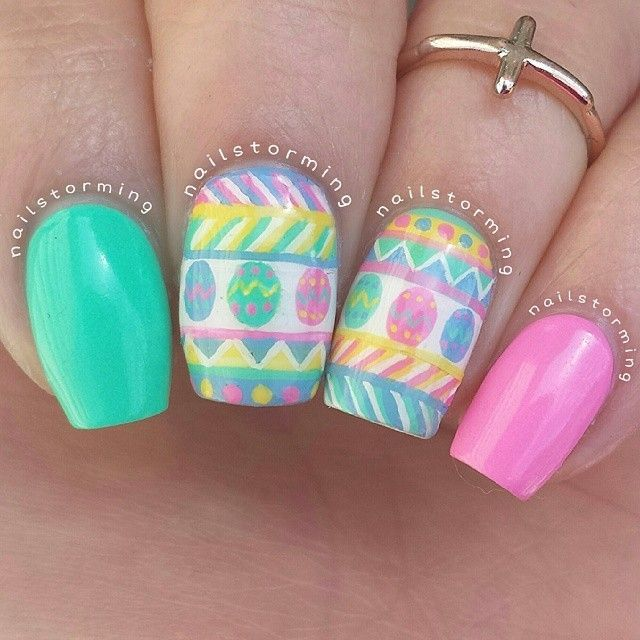 Variety Of Nail Art By Yours Truly: 96 Best Images About Easter Nails On Pinterest