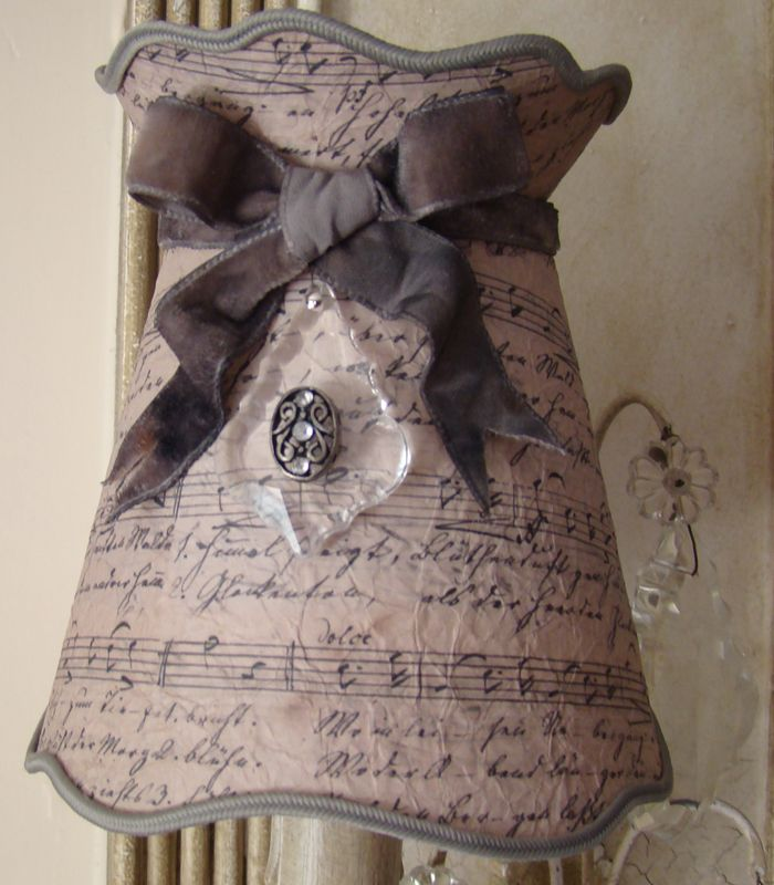 Abat jour shabby chic pour lustre et suspension lampshade for Lampe style shabby chic