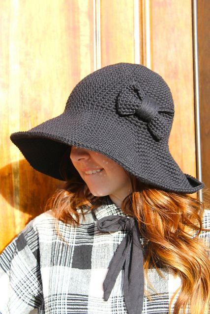 The Floppy Hat -- Fun for sunny days! Designed by Sara Dudek. Pattern on Ravelry.