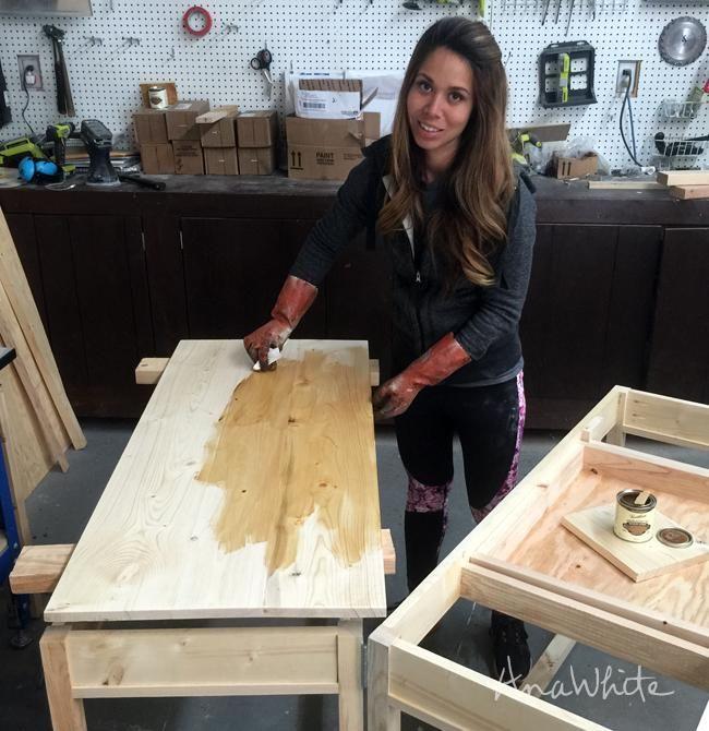 How I Stain Wood | Ana White