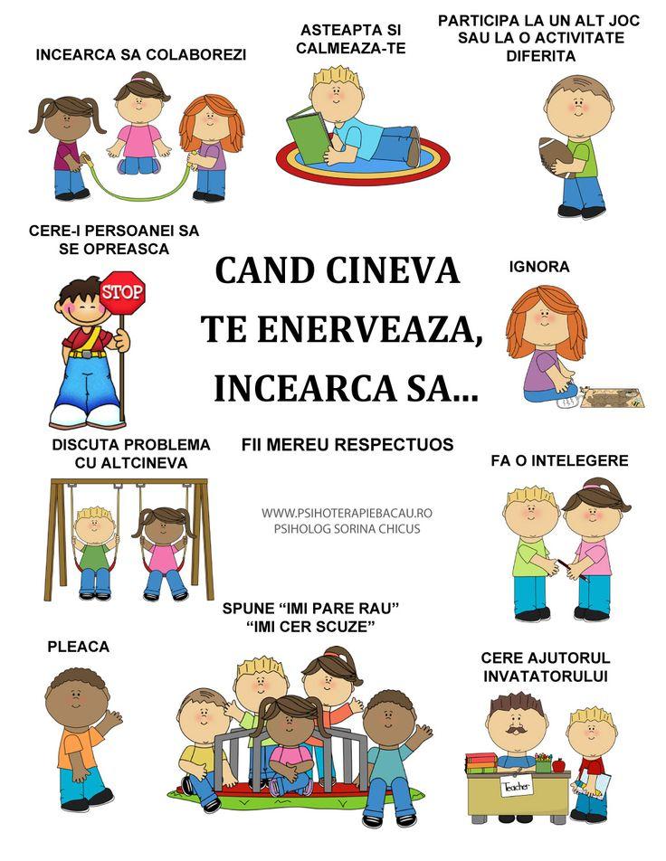 Fise pentru copii - Cand cineva te enerveaza... - Blog Sorina Chicus - psiholog