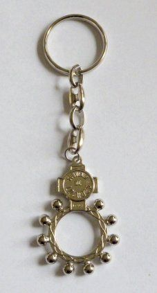 Rosary Ring Key Ring