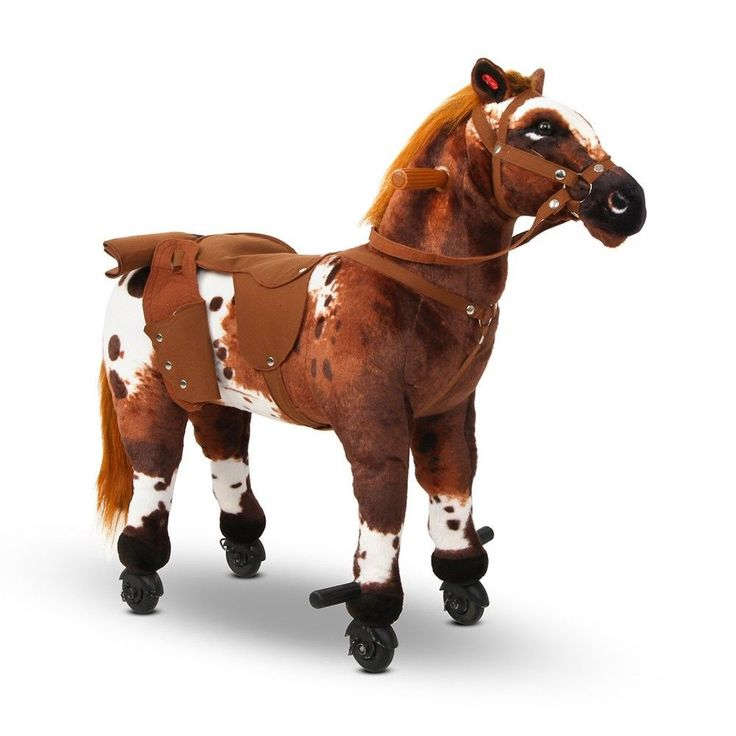 Ride on Pony Leg Riding Motion Anti Reverse Safety Wheels Plays Music
