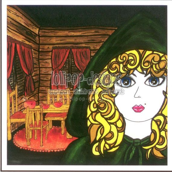 Goldilocks Giclee Print Fine Art Reproduction by LollipopDesignsAU, $14.00
