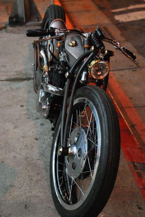 Springer: Retro Motorcycles, Awesome Riding, Old Motorcycles, Custom Motorcycles, Wheels Machine, Black Motorcycles, Custom Bike, Black Gold, Cafe Racers
