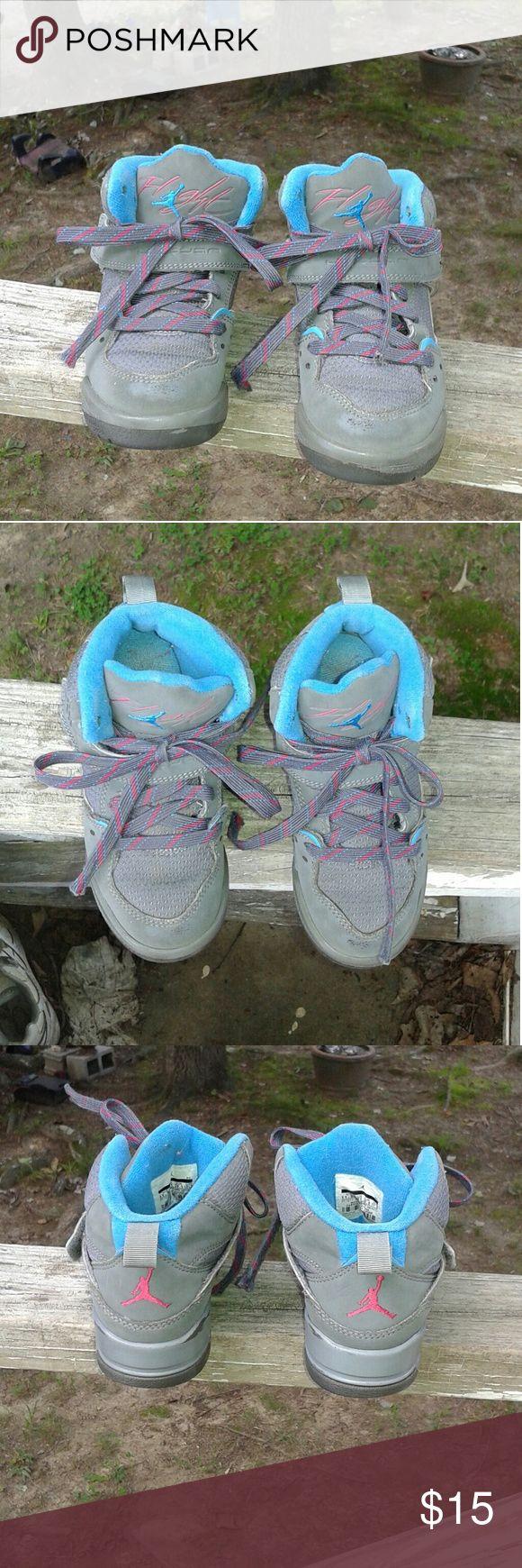 Selling this Jordan Flight High Top shoe's Boys size 11.5c on Poshmark! My username is: alicesales. #shopmycloset #poshmark #fashion #shopping #style #forsale #Jordan Flight  #Other