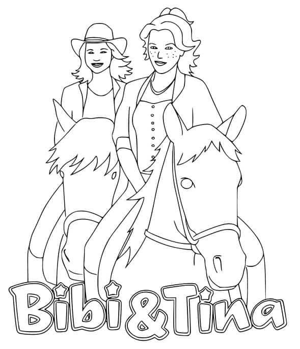 ausmalbilder bibi und tina pferde  ausmalbilder pferde