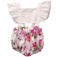 0-5 T Peuter Baby Meisjes romper overalls zomer mouwloze meisje Sunsuit Kids Jumpsuit bloemen meisje Outfits babykleertjes(China (Mainland))