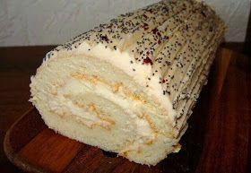 Cake roll with soured cream frosting Самые вкусные рецепты: Рулет со сметанным кремом #cake #dessert