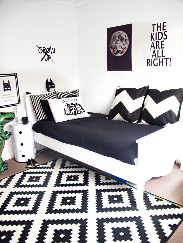 Youre Going To Need This Must Have Shopping List Get The Look Black And White Kids Bedroom Monochrome Nursery Modern Home