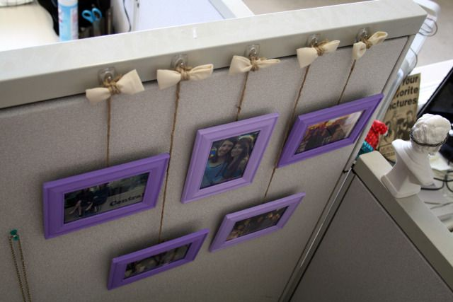using suction hooks to hang pictures in your cubical