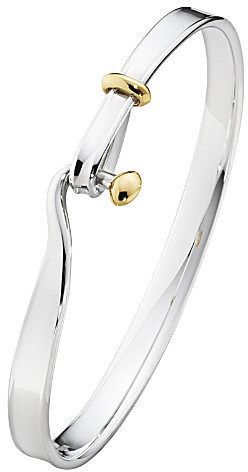 Georg Jensen Torun 18ct yellow-gold and sterling silver bangle