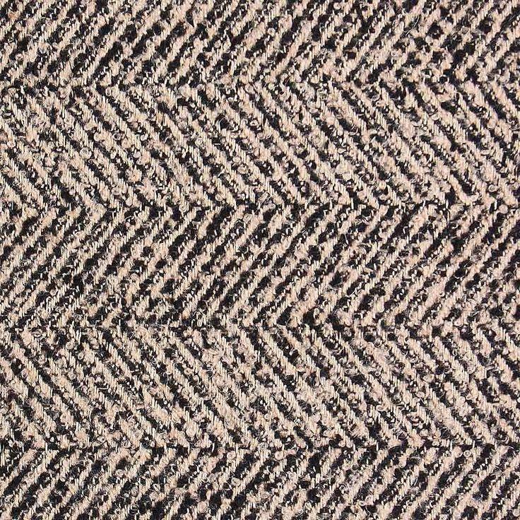 Herringbone Wool Blend Fabric Black Sand 150cm - Suitings, Tweeds & Tartans - Dressmaking Fabrics - Fabric