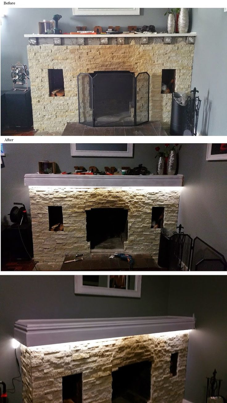 Fireplace DIY cladding & update (part 2) | Thimble CrackER painting, mantel, DIY, LED