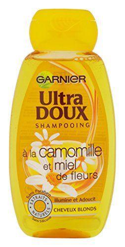 Garnier – Ultra DOUX Shampooing pour Cheveux Blonds Camomille/Miel 250 ml – Lot de 3: Véritable recette de lumière pour les cheveux blonds,…