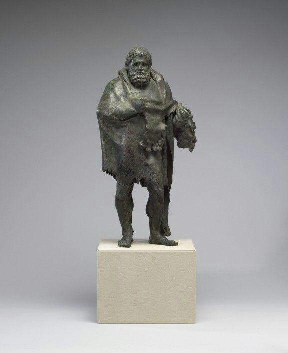Cast bronze sculpture of Aged Herakles. Roman. 1st century B.C. - A.D. 1st century. (Copy of a Greek original, 3rd century B.C.) | The Walters Art Museum