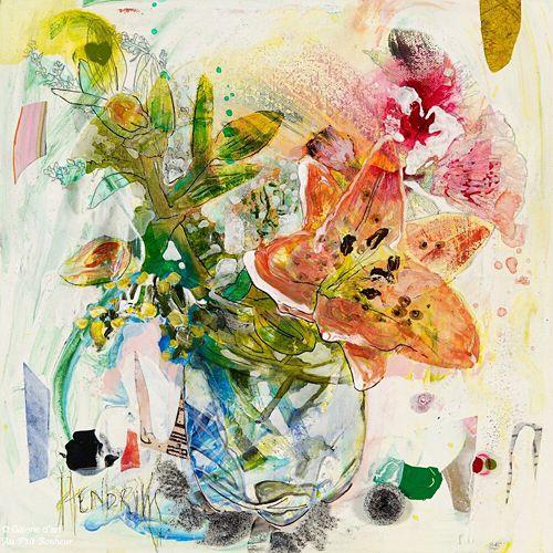 Maryann Hendriks, 'It's Either Him or Me', 12'' x 12'' | Galerie d'art - Au P'tit Bonheur - Art Gallery