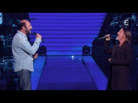 "Kad Mérad et Florent Pagny - ""I believe I can fly"" - Le Grand Show - YouTube"