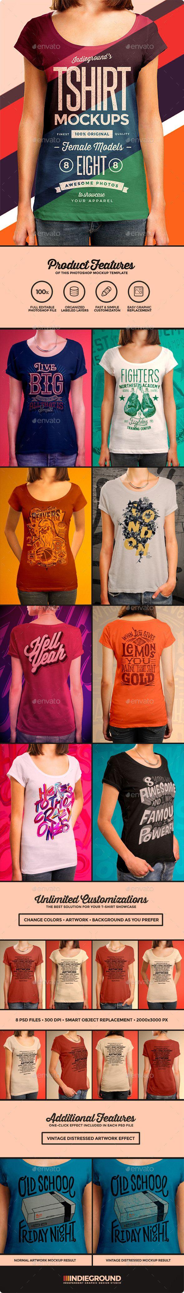 Women T-Shirt Mockups