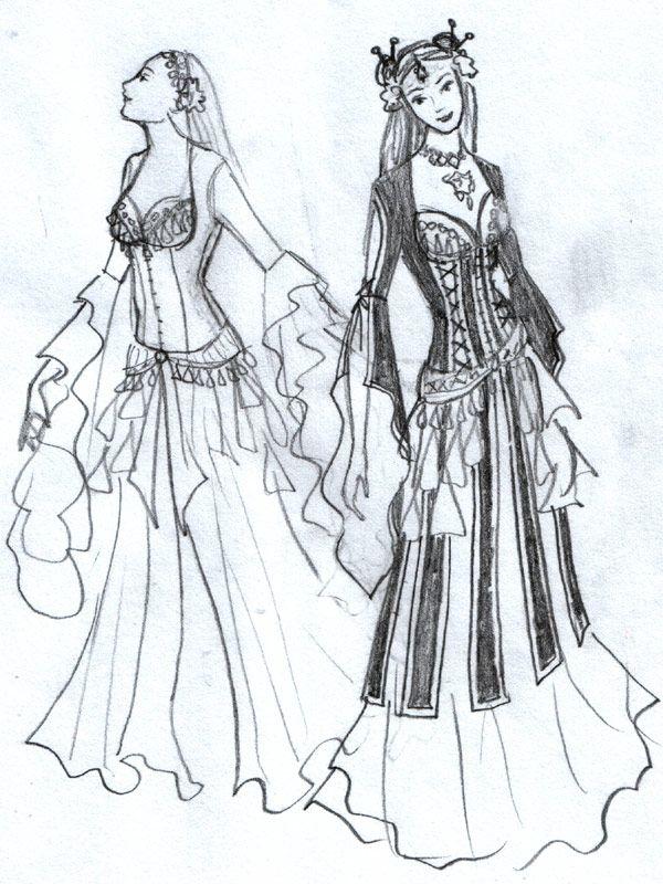 Guedra - Эскизы костюмов для трайбла