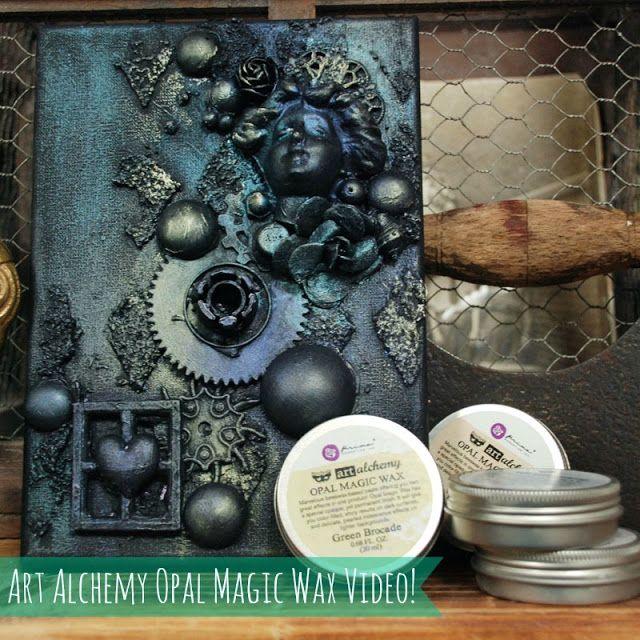 Finnabair: Art Alchemy Opal Magic Wax Video - tutorial