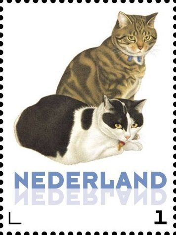 Stamp: Domestic Cat (Felis silvestris catus) (Netherlands - Personalized stamps) (Cats, Francine van Westering) Col:NL 2015-269