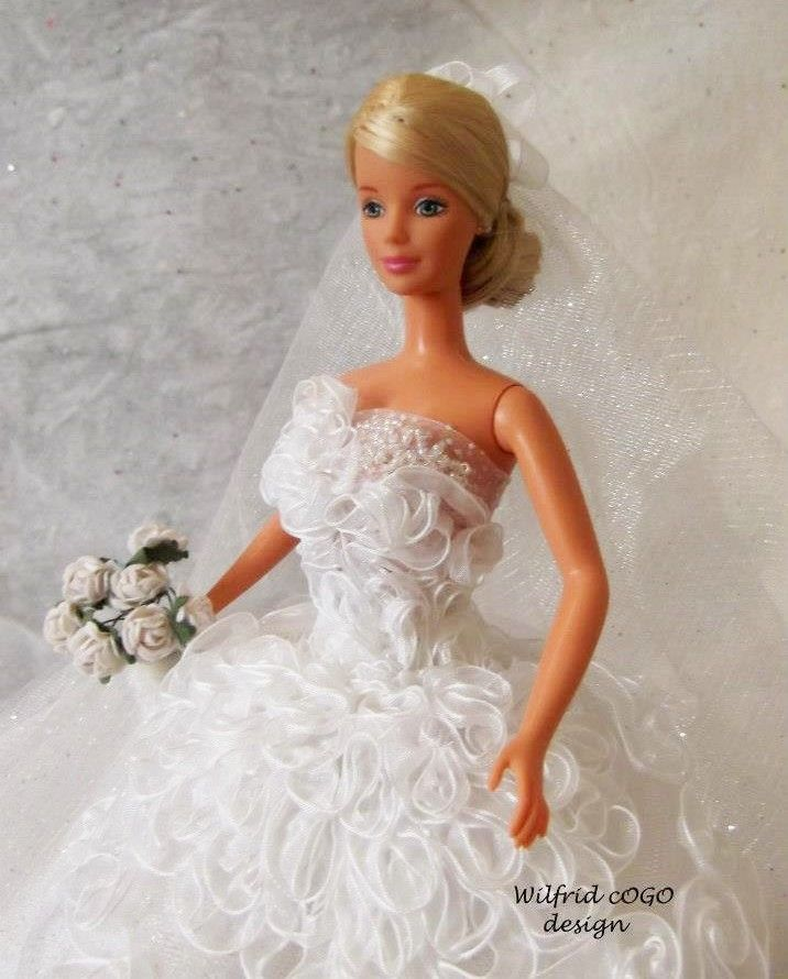 17 best images about barbie doll bridal gowns dresses 2 for Wedding dresses for barbie dolls