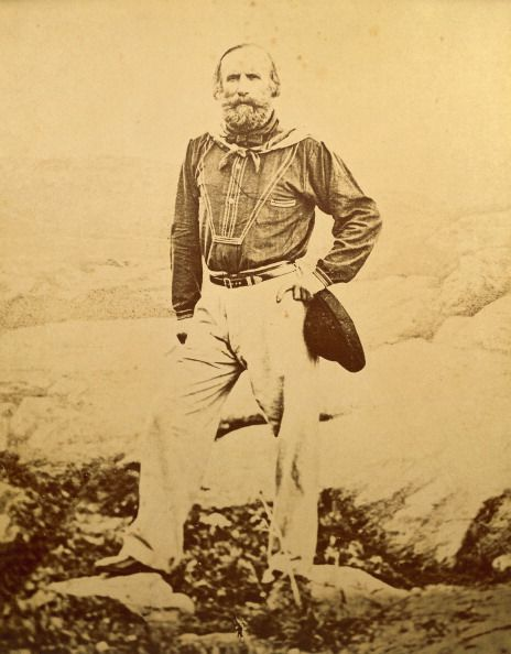 Giuseppe Garibaldi a Caprera, durante l'esilio