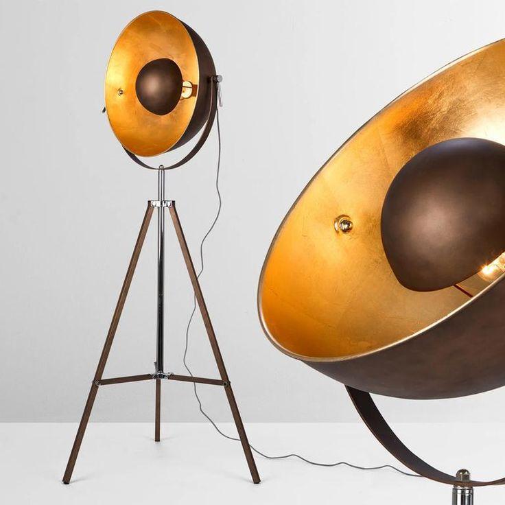 arjan coffee table oak and black gloss lampadaire tripode. Black Bedroom Furniture Sets. Home Design Ideas