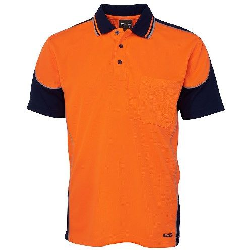 6HCP4.ON - JB's Short Sleeve Contract Piping Polo Orange Navy_1.jpg
