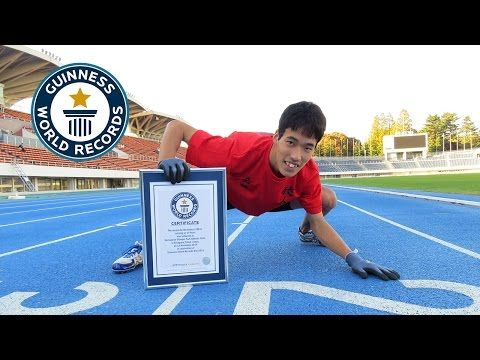 Guinness World Records Day 2014 - Fastest 100m on All Fours - YouTube