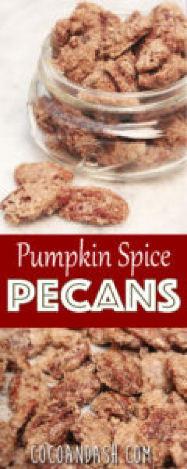 pumpkin spice cinnamon roasted pecans