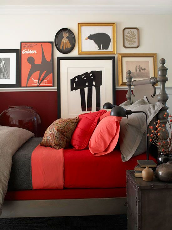 43 best Home Decor - Red & Gray images on Pinterest