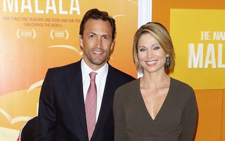 Journalist Amy Robach divorced Tim McIntosh and got married to Andrew Shue in 2010